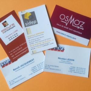 cartes de visites personnalisées